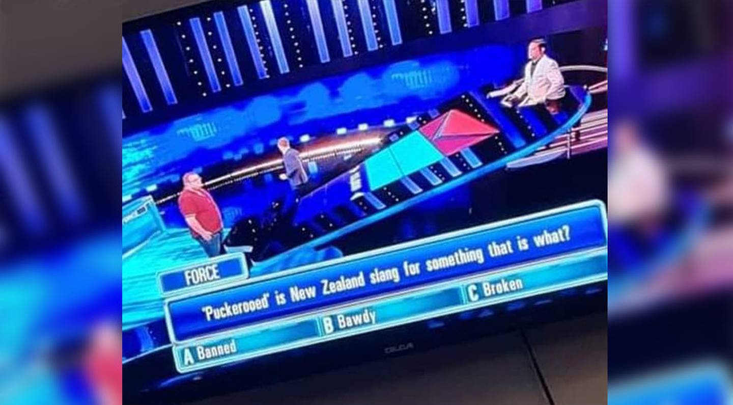 The question led to a number of Kiwis discussing whether it is a term used by New Zealanders. Photo / The Chase / Facebook