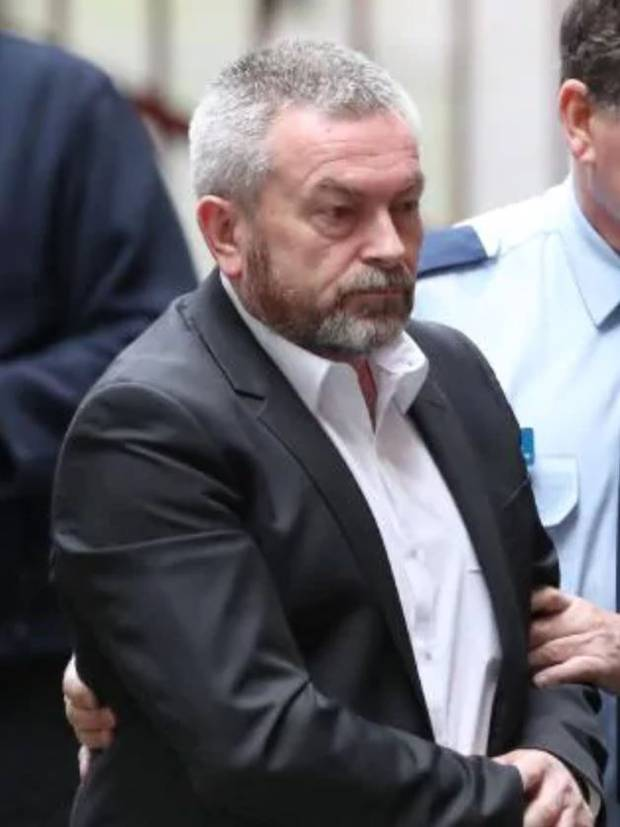 Borce Ristevski arrives from a prison van to the Supreme court in Melbourne in 2018. Photo / News Corp Australia
