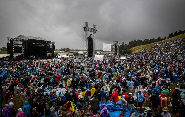 Crowds at the Phil Collins concert at Mission Estate earlier this year. Photo / File.
