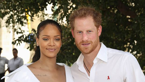 Rihanna met Prince Harry when he visited Barbados in 2016. Photo / Getty