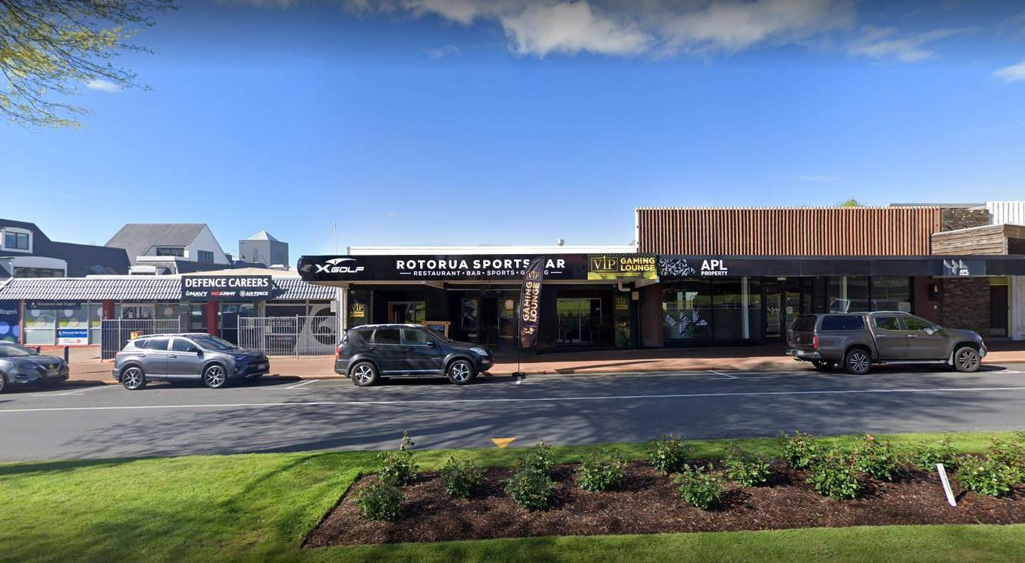 """Police are investigating an """"unprovoked attack"""" from gang members on Rotorua Sports Bar patrons. Photo / Google"""