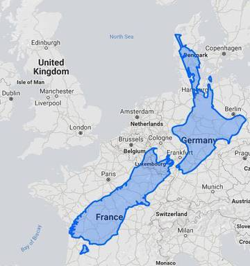 New Zealand On The Map.Eye Opening Map Of New Zealand Goes Viral Nz Herald