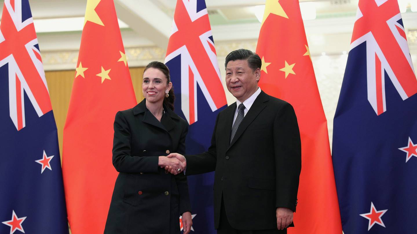 Prime Minister Jacinda Ardern and Chinese President Xi Jinping in Beijing in April 2019. Photo / AP