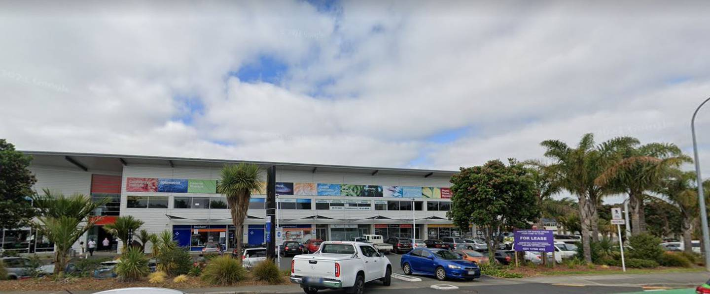Labtests Mairangi Bay Collection Centre on Apollo Drive in Rosedale, North Shore, is linked to a person with Covid there last Friday. Image / Google