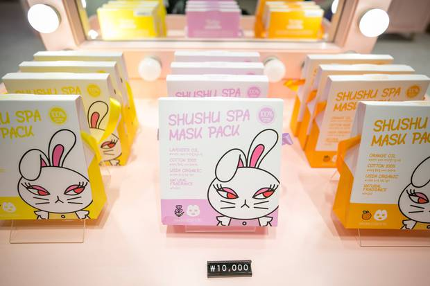 ShuShu & Sassy has a range of beauty products aimed at young girls, including these face masks. Photo / Washington Post