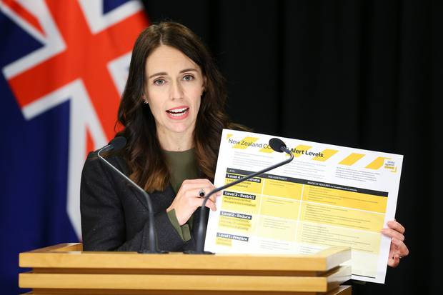 Prime Minister Jacinda Ardern announced the stage four lockdown on Monday afternoon. Photo / Getty Images