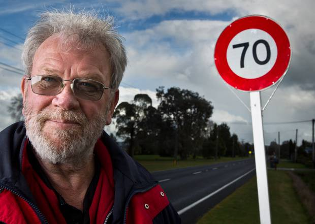 Rotorua residents' group leader Jerry Douglas favours a 70 km/h speed limit on Hamurana Rd along the northern edge of Lake Rotorua. File photo