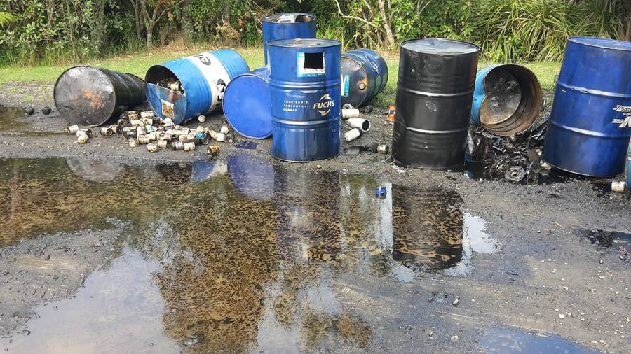 Oil leaking from barrels dumped at Piha posed threat to water reservoir