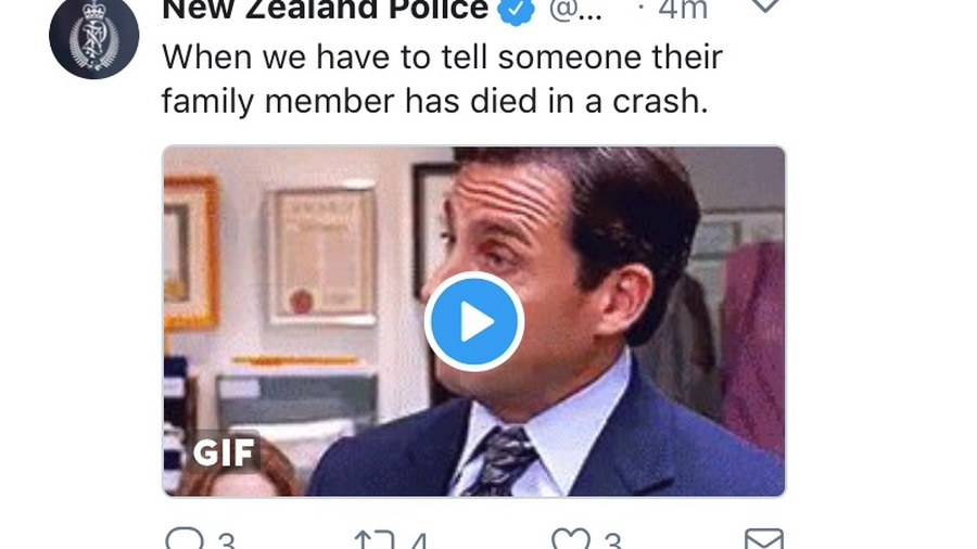 'This is the worst': New Zealand Police apologise over insensitive tweet