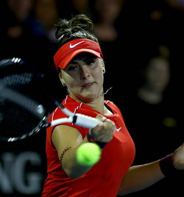 28c0e815e Photo   Getty Bianca Andreescu beat Caroline Wozniacki in straight sets at  the ASB Classic. Photo   Getty