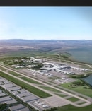 A representation of what Auckland Airport's new runway will look like.