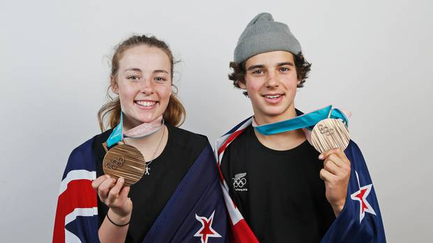 Snow sports teen stars Zoi Sadowski-Synnott and Nico Porteous. Photo / Photosport