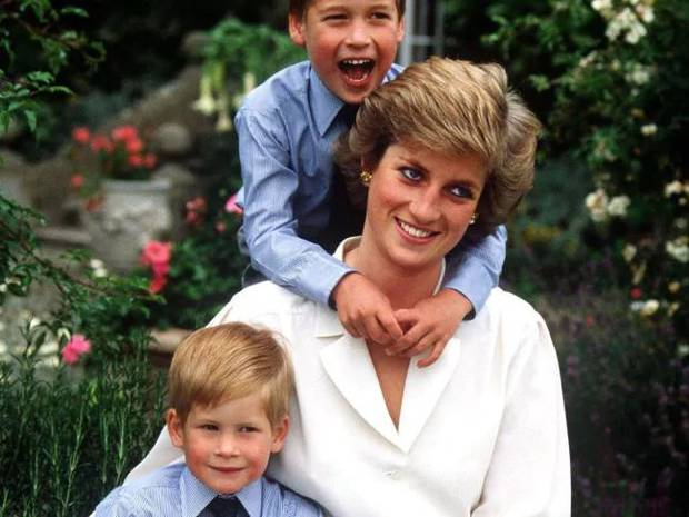 Prince William and Prince Harry with their mum in 1988. Photo / News Ltd
