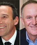 Graeme Hart and John Key.