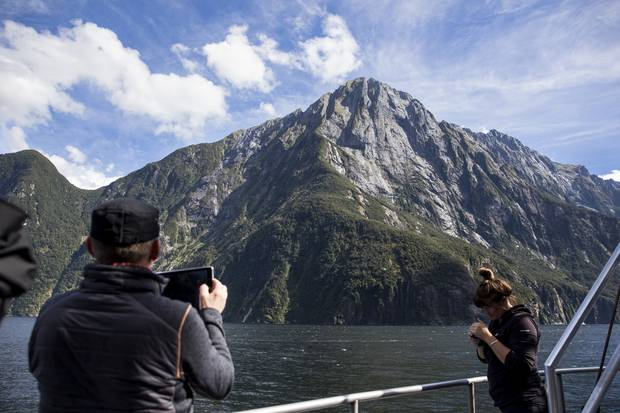 Milford Sound is keenly feeling the pressure of increasing tourism. Photo / NZ Herald