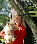 Alice McKinley, director of Kin Marketing, with her dog Ginny. Photo / Supplied