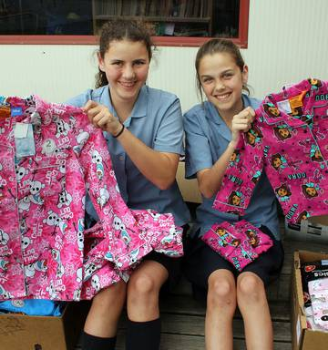 St Patrick S School Students Group Paddy S Army Provide Clothes To Foster Children Nz Herald