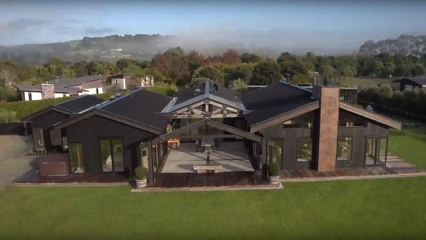 The Mangawhai home is almost entirely made from historic recycled materials. Photo / screenshot