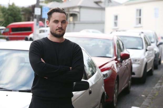 Motorist Finn Morrow was also clamped outside the Chinese consulate in Ellerslie earlier this year. Photo / Doug Sherring