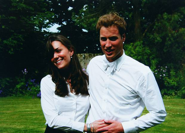 Kate and Prince William on the day of graduation in 2005 in Scotland. Photo / Getty