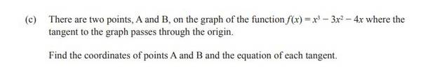 Question 3(c) of the NCEA Level 2 Calculus exam.