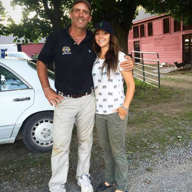 Lauren with her father Tommy Biddle in Millbrook, New York. Photo / Supplied