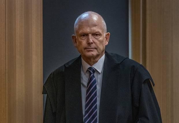 Justice Cameron Mander has handed down his sentence to Christchurch gunman Brenton Tarrant. Photo / Pool