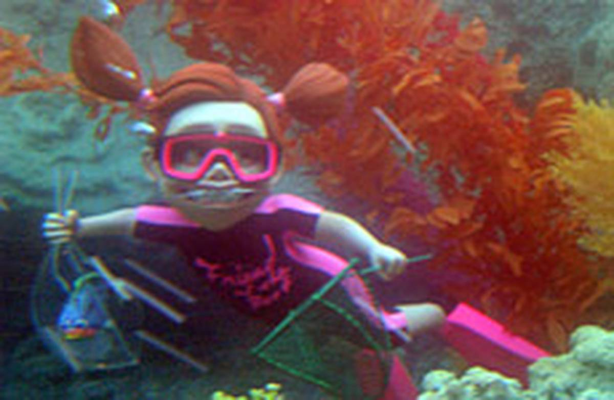 Finding nemo darla fishy wake up