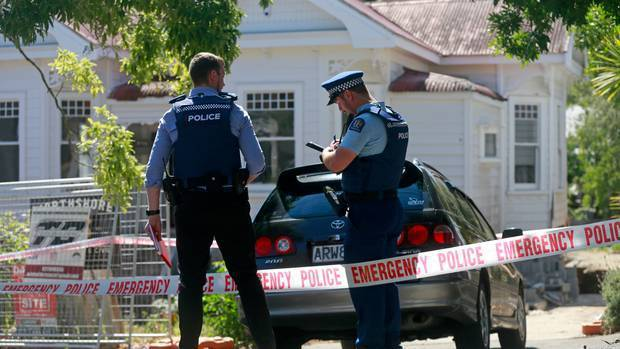 Police on January 31, 2020, when human remains were discovered at a property on Marlborough St, Mount Eden, Auckland. NZ Herald