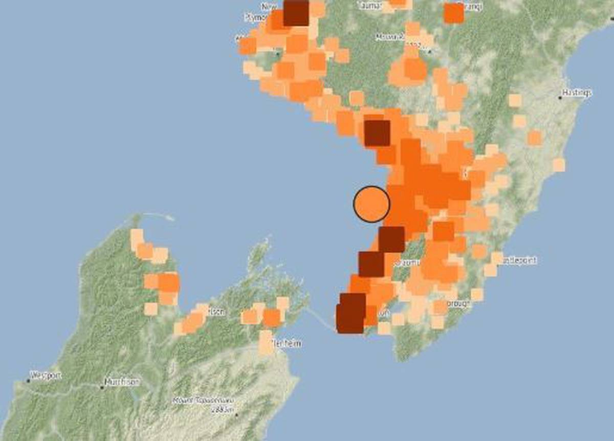 4.7 magnitude earthquake jolts lower, central North Island including Wellington