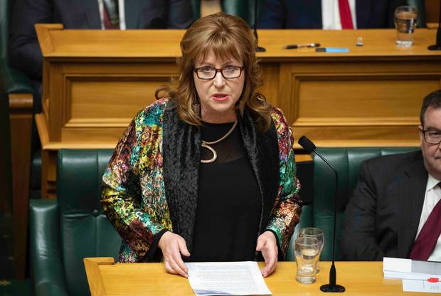 Clare Curran, Labour MP for Dunedin South, during her valedictory speech in Parliament this month. Photo / Mark Mitchell