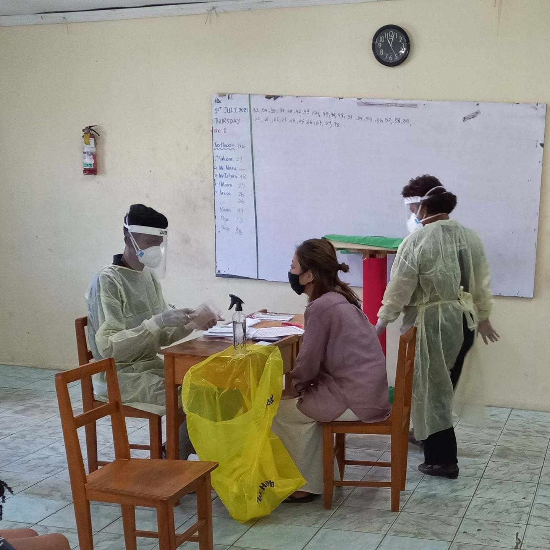 Fijian health officials prepare to deliver a vaccine. Photo / Fijian Government via Facebook