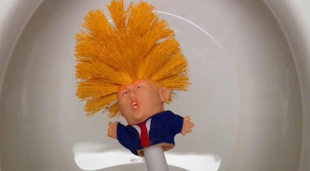 Commander in crap: Donald Trump toilet brush making bathrooms great again