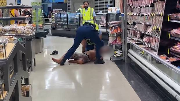 Officers had to chase the man around the supermarket. Photo / Supplied