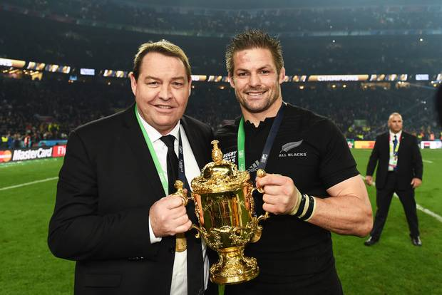 Steve Hansen led the All Blacks to World Cup triumph in 2015. Photo / Photosport