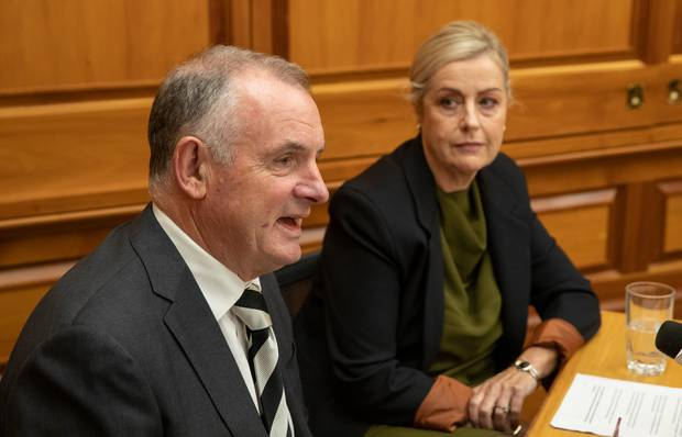 Speaker Trevor Mallard and reviewer Debbie Francis released an independent review of bullying and harassment at Parliament last week. Photo / Mark Mitchell