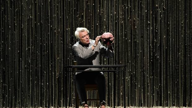 AUCKLAND, NEW ZEALAND - NOVEMBER 17: David Byrne performs on stage as part of his American Utopia World Tour at Spark Arena on November 17, 2018 in Auckland, New Zealand. (Photo by Dave Simpson/WireIm