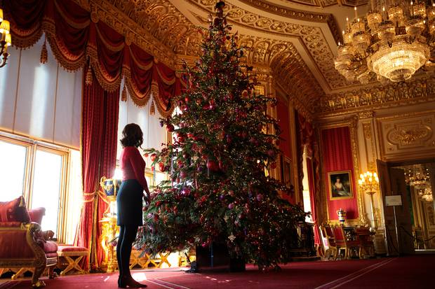 The Christmas tree at Windsor Castle. Photo / Getty Images