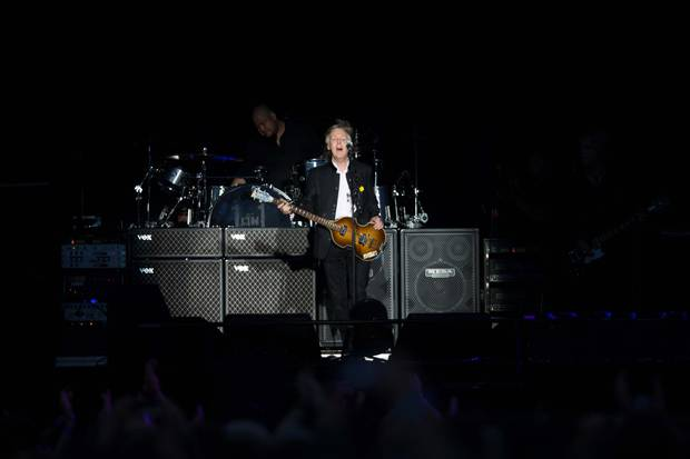 Sir Paul McCartney performs at Mt Smart Stadium. Photo / Supplied