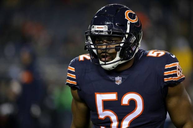 Chicago Bears linebacker Khalil Mack has sacked opposing quarterbacks at a high rate this season. Photo / Getty Images