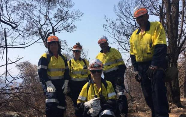 Kiwi Volunteers have flown across the ditch to help the wildlife endangered by the fires. Photo / Facebook, Animal Evac New Zealand