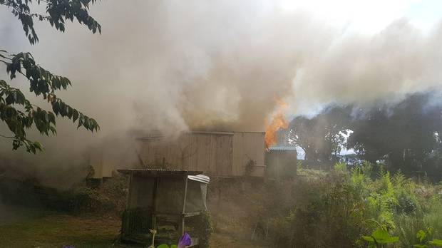 The fire broke out in Kingsland this afternoon. Photo / Supplied by Jeremy Greenbrook-Held