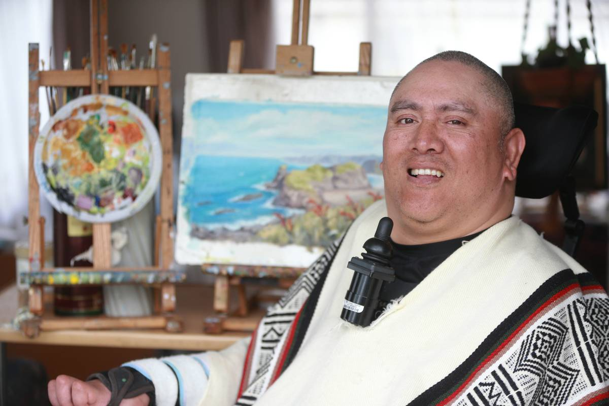 Mouth And Foot Painting Artist S Work Goes Worldwide Nz Herald