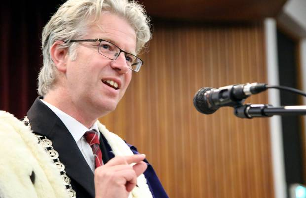 Whanganui mayor Hamish McDouall was getting ready to start his mayoral re-election campaign, but now he doesn't have to after no-one registered to stand against him in the upcoming local body elections. Photo / File