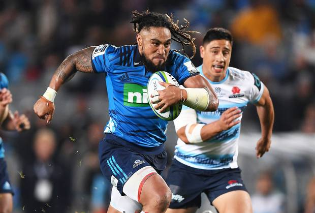 Ma'a Nonu scores a try for the Blues against the Waratahs. Photo / Photosport