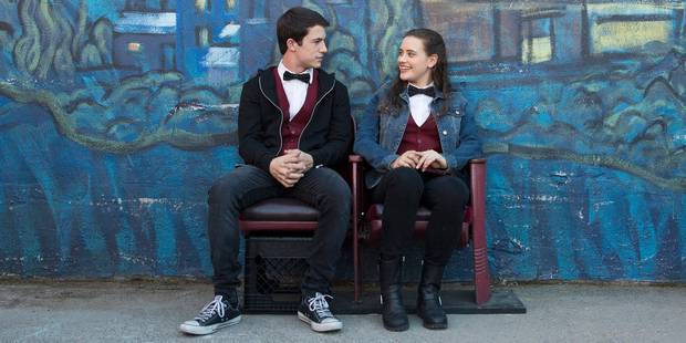 Dylan Minnette and Katherine Langford in 13 Reasons Why. Photo / Netflix