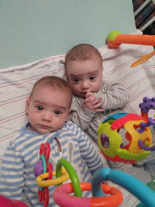 Santino and Giovanni were born in October. Both boys have chronic granulomatous disease. Photo / GoFundMe
