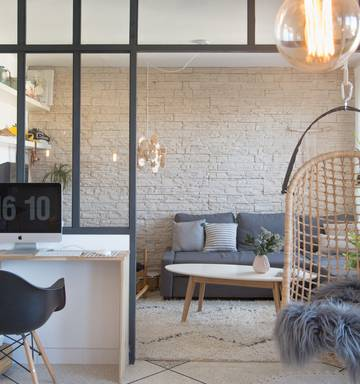 35cf396881 ... Glass-and-steel room dividers are becoming more popular, thanks to open  floor