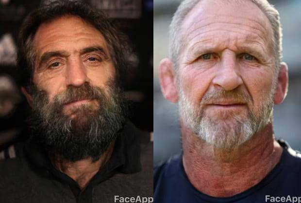 Sam Whitelock and Kieran Read as mocked by the Daily Telegraph via FaceApp.