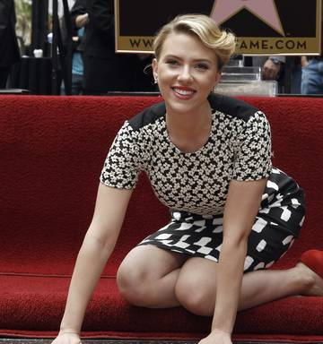 Scarlett Johansson Receives A Star On The Hollywood Walk Of Fame